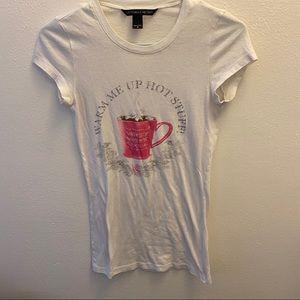 Victoria's Secret White Printed Blouse Size Small